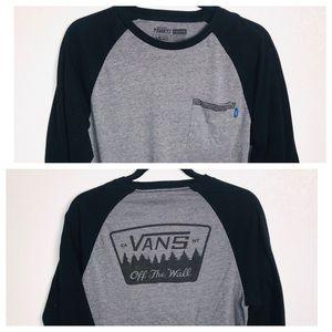VANS Graphic Raglan T Shirt with Pocket Size M